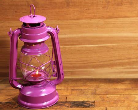 colorful lantern: Colorful lantern on wooden