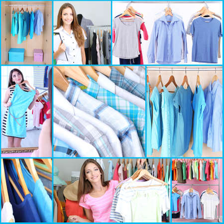 Clothing collage photo