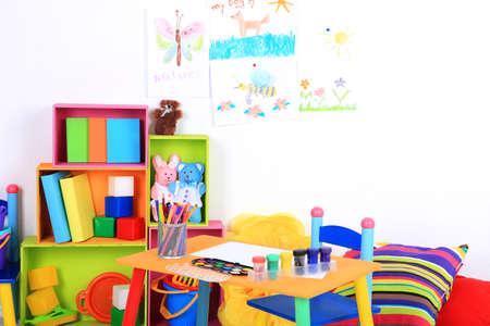 nurser: Interior of classroom at school Stock Photo