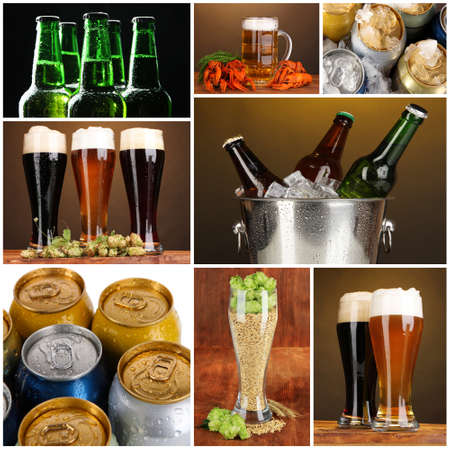 Beer collage photo