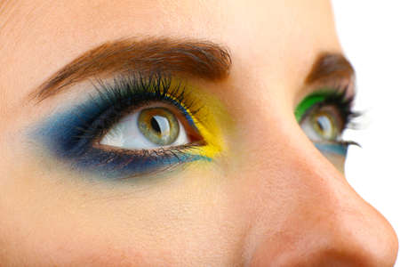 sch�ne augen: Sch�ne Augen mit hellen Make-up, close up
