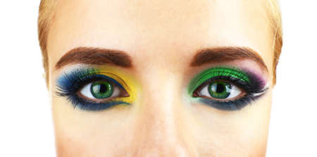 beaux yeux: Beaux yeux lumineux avec maquillage, de pr�s Banque d'images