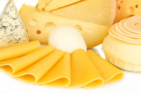 dairy products: Various types of cheese close up