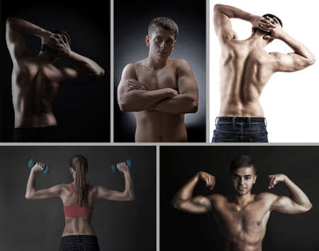 Fitness collage photo