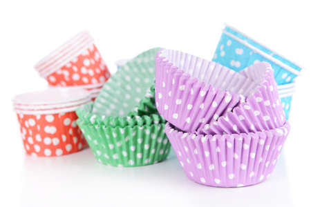Colorful cupcake wrappers, close-up photo