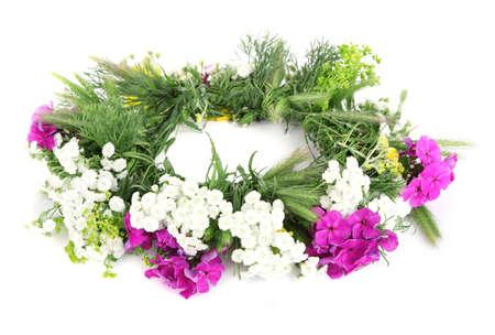 Flower krans geïsoleerd op wit