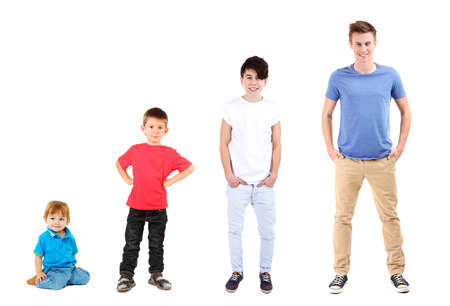 Concept van het opgroeien Stockfoto
