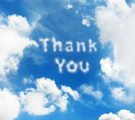 thanking: Blue sky background with clouds Stock Photo