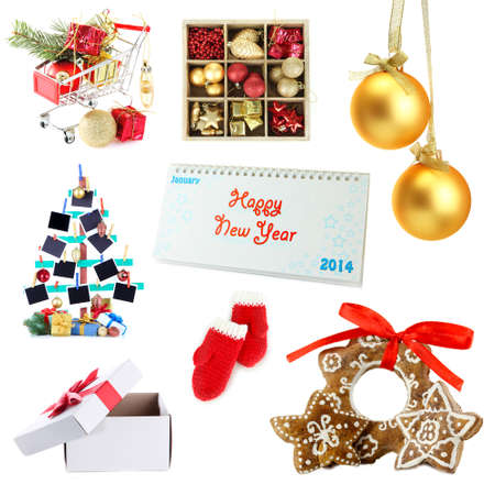 Christmas and New Year decoration collection photo