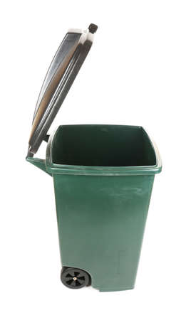 segregate: Recycling bin isolated on white