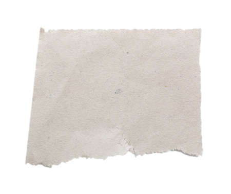 Torn blank paper isolated on white photo