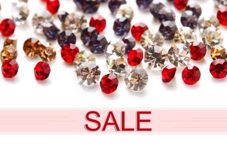 gem stones: Concept of discount. Beautiful gem stones