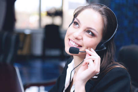 work: Call center operator at work