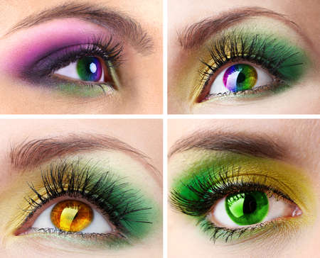 Collage of different photos showing eyes photo