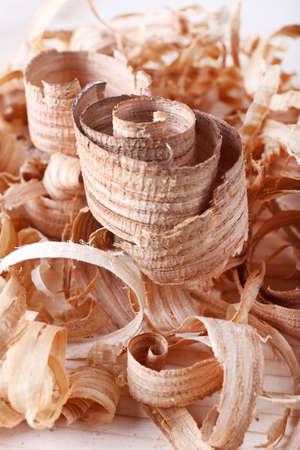 filings: Heap of chips closeup Stock Photo