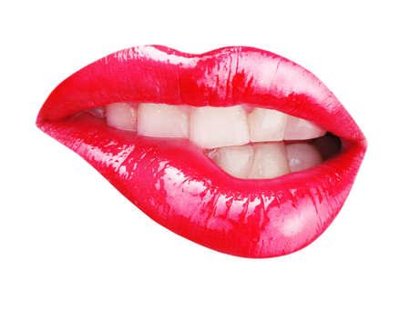 Female lips isolated on white