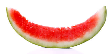 rind: Fresh slice of watermelon, isolated on white
