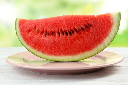 Fresh slice of watermelon, close up photo