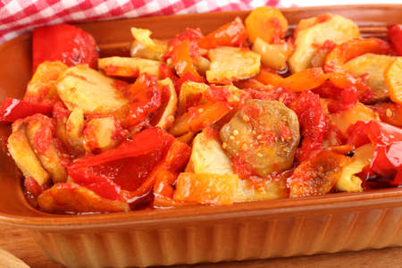 ragout: Vegetable ragout close-up Stock Photo