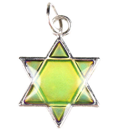 Star David pendant isolated on white photo