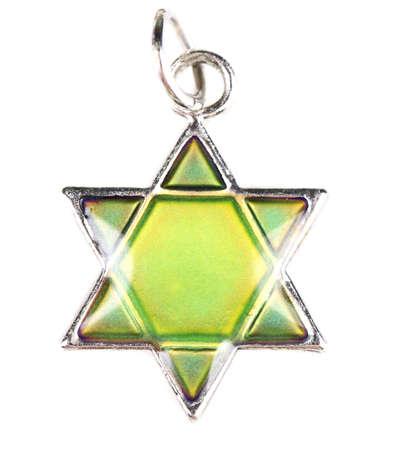 judah: Star David pendant isolated on white