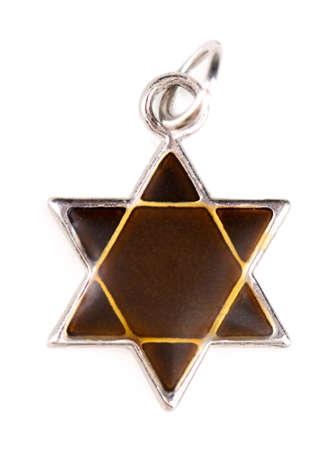 star of david: Star David pendant isolated on white