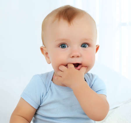 Portrait of cute baby, close-up