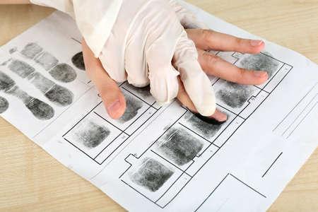 Taking fingerprints photo