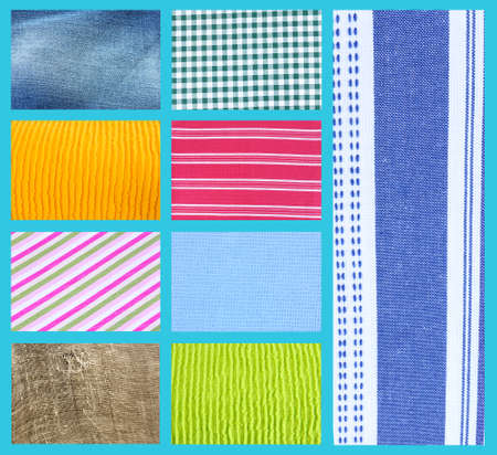 Different fabric collage photo