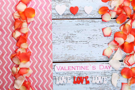 Beautiful romantic background on Valentines Day close-up photo
