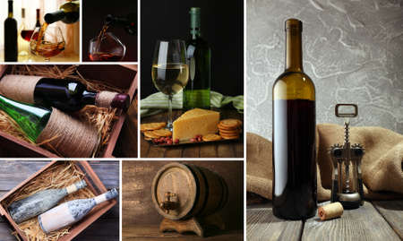 food collage: Wine collage