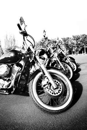 aligned: Bike aligned, outdoors