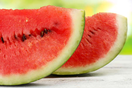 Fresh slice of watermelon, close up photo