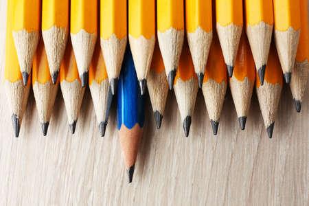 liderazgo empresarial: Concepto de la individualidad. L�pices de cerca