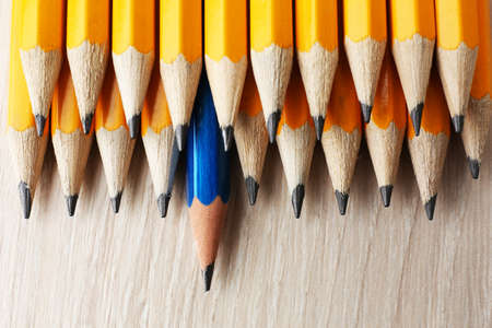 Individuality concept. Pencils close-up
