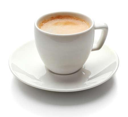 tazas de cafe: Taza de café aislados en blanco Foto de archivo