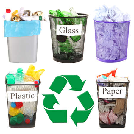 Recycling concept, isolated on white photo