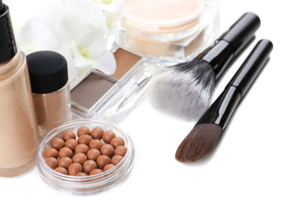 Basic make-up products, close-up photo
