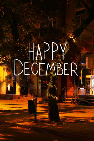 Happy December, greeting card photo