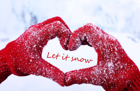 Let it snow, greeting card photo