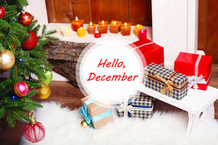 Hello December, Greeting Card Photo