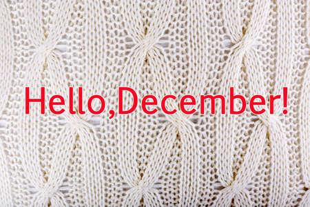 diciembre: Hola diciembre, tarjeta de felicitaci�n