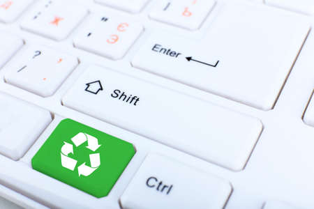 keyboard button: Close up of Recycle keyboard button Stock Photo