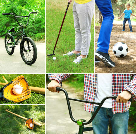 Outdoors sport collage photo