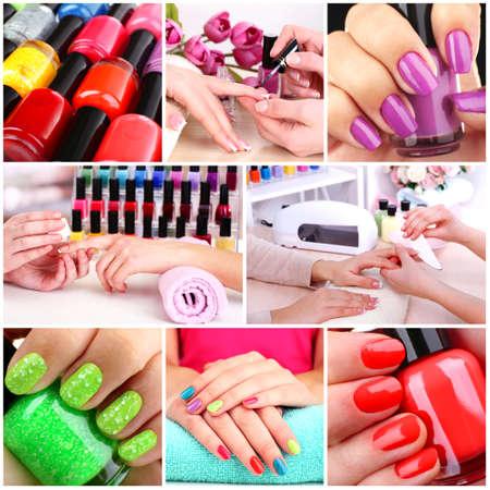 colours: Beauty salon collage