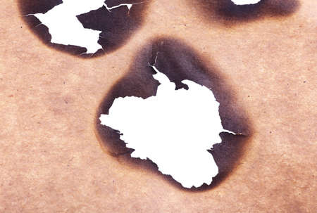 papel quemado: Burned paper as background