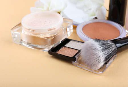 Basic make-up products, close-up photo