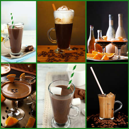 Coffee cocktails collage photo