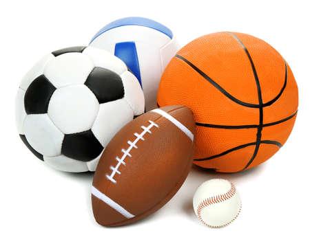 pelota: Se divierte bolas aislados en blanco Foto de archivo