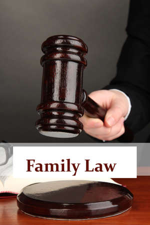 family law: Judges gavel in hand and text Family Law
